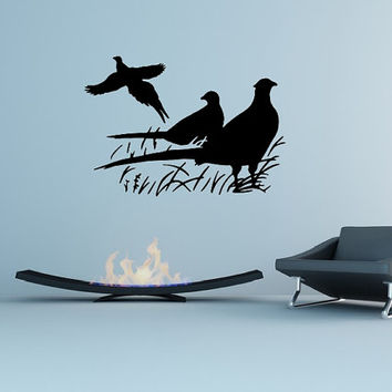 Pheasants Style C Vinyl Wall Decal 22421