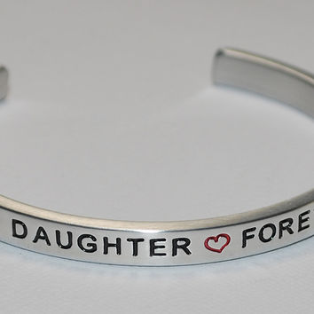 Always My Daughter * Forever My Friend  |  Engraved Handmade Bracelet by: Say It and Wear It Jewelry