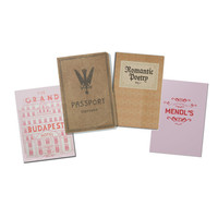 Grand Budapest Hotel Book Notebooks Set
