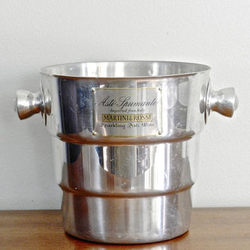Vintage Champagne Bucket Sparkling Wine Italian Chiller Rustic Barware Drinkware Holiday New Years Eve Entertaining Celebrations