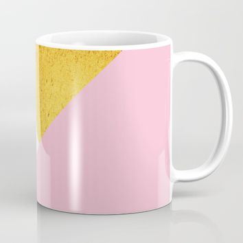 Gold & Pink Geometry Mug by ARTbyJWP