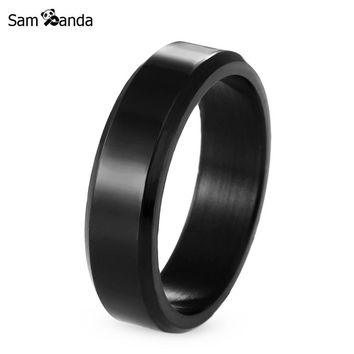 Titanium Band Brushed Wedding Stainless Steel Solid Ring Men Women 316L Stainless Steel Rings Men Jewelry MAA0208
