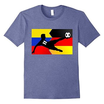 Colombian Soccer Player in Germany T-shirt Flag Colombia