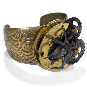 Steampunk Cuff Jewelry Vintage Industrial TORCH by edmdesigns