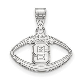 NCAA Sterling Silver North Carolina Football Pendant Necklace