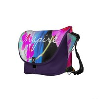 """""""INSPIRE"""" Orchid Photograph Tote Messenger Bag"""