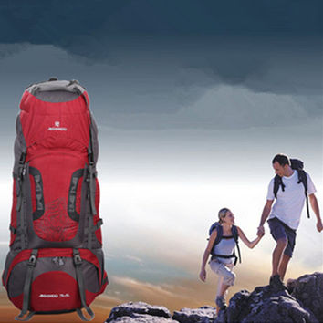 80L Tactical Trekking Backpack Mountaineering Shoulder Bag Pack For Camping Hiking Long Journey