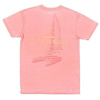 "SEAWASHâ""¢ Sail Away Tee in Coral by Southern Marsh - FINAL SALE"