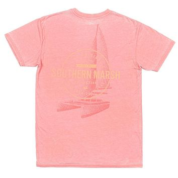 SEAWASH™ Sail Away Tee in Coral by Southern Marsh