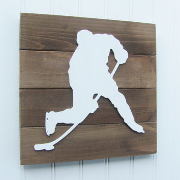 Hockey, Boys Room Decor, Hockey Letters, Nursery Decor, Hockey Decor, Sports Letters, Boys Room, Wall Art, Pallet Board, Sports Room