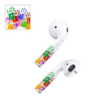 Fashion Design Protector Skin for Apple Airpods Wireless Bluetooth Headphone Anti-lost Protection Film Sticker for Air Pods