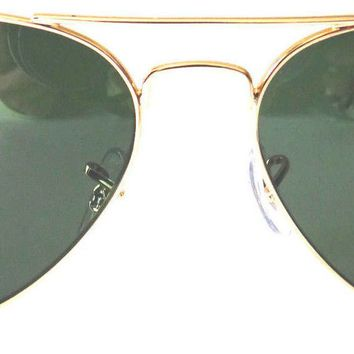 Cheap New Authentic Ray Ban RB3025 L0205 58mm Green Classic G-15 Lenses, Gold Frame outlet