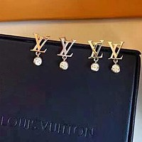Louis Vuitton LV Women Fashion New Diamond Personality Long Earring