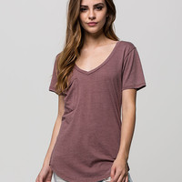 Others Follow Womens Pocket Tee Taupe  In Sizes