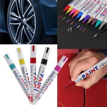 Paint Care Waterproof Car Wheel Tire Oily Mark Pen Rubber Tyre Tread CD Metal Permanent Paint Marker Graffiti Marcador Caneta