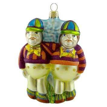 Holiday Ornament Tweedle Dee And Dum Glass Ornament