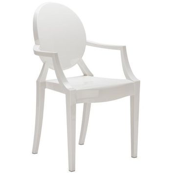 Burton Arm Chair | White
