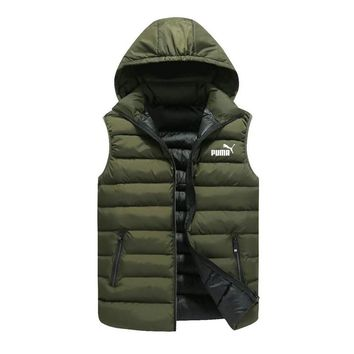 PUMA autumn and winter vest men's casual jacket vest green