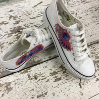 Embroidered Sneakers (White)