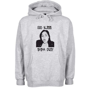 god bless sasha grey Hoodie Sweatshirt Sweater Shirt Gray and beauty variant color for Unisex size