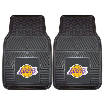 Los Angeles Lakers NBA Heavy Duty 2-Piece Vinyl Car Mats (18x27)