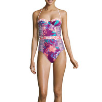 Social Angel Floral One Piece Swimsuit Juniors - JCPenney