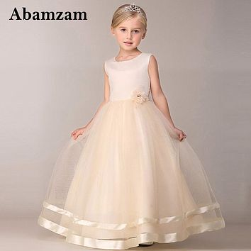Maxi Summer Kids Wedding Dresses For Girls Designs Long Evening Party Bridesmaid Formal Robe Fille Little Children Clothing 2018