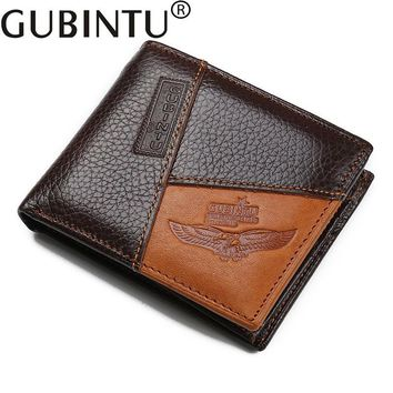 2017  Luxury Brand Men Wallet 100% Genuine Leather Small Wallet Male Clutch Money Bag Purse Portfolio Man High Quality Designer