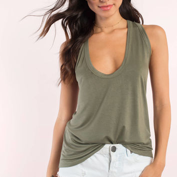 Monica Low Scoop Tank Top