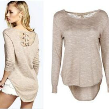 womens casual lace sweater autumn spring winter sports hoodie gift 27