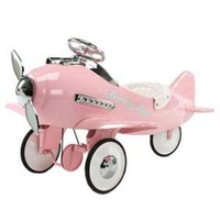 Pink Flyer Pedal Plane : Holiday Gifts And Toys at PoshTots
