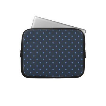 Fifties Style Blue Polka Dot Laptop/iPad 2 Case Laptop Sleeves from Zazzle.com
