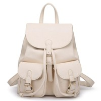 Soft Leather Lovely Backpack Cute Schoolbag Bag
