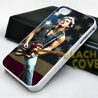 Bruce Springsteen American With Flag - iPhone Case and Samsung Case.BeachCoverr.