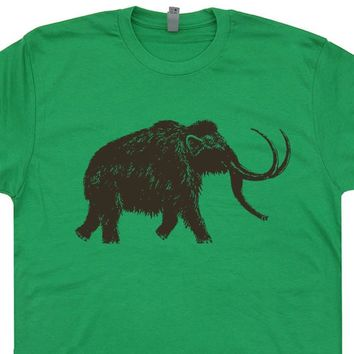 Big Wooly Mammoth T Shirt Vintage Dinosaur T Shirt Cool Elephant Shirt