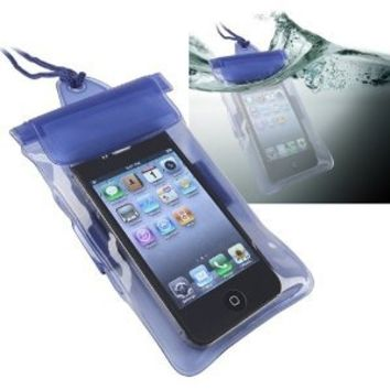 eForCity Waterproof Bag Case for Cell Phone/PDA - Retail Packaging - Blue