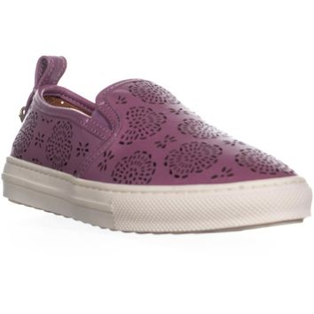 Coach C115 Perforated Slip On Sneakers, Primrose, 8 US