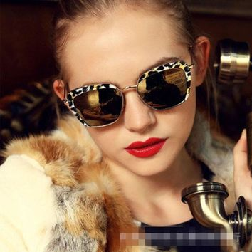 ESBU3C 2016 New Cat Eye Aviator Sunglasses Women Vintage Fashion Metal Frame Mirror Sun Glasses Unique Flat Ladies Sunglasses UV400 211