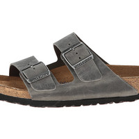 Birkenstock Arizona Soft Footbed - Leather (Unisex) Iron - Zappos.com Free Shipping BOTH Ways