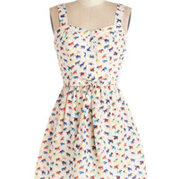 ModCloth Quirky Mid-length Sleeveless A-line Lead the Pachyderm Dress
