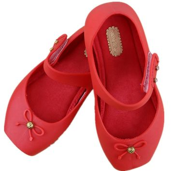 Bow Ballet  jelly shoes