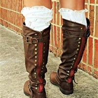 Paint The Town Red Brown Riding Boot
