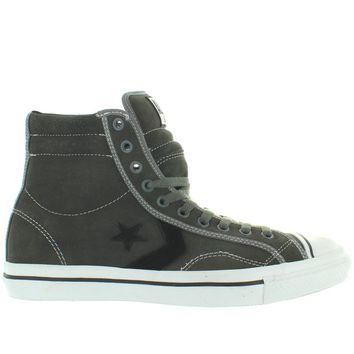 converse all star star player 1975 hi charcoal white canvas high top sneaker