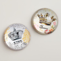 Crown Paperweights, Set of 2 - World Market