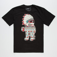 RIOT SOCIETY Native Party Bear Mens T-Shirt | Graphic Tees