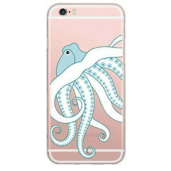 Blue Sea Octopus Case for iPhone 6 6S 5 5S