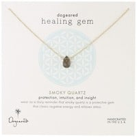 "Dogeared ""Lasting Healing Gems"" Smoky Quartz Pendant Necklace"