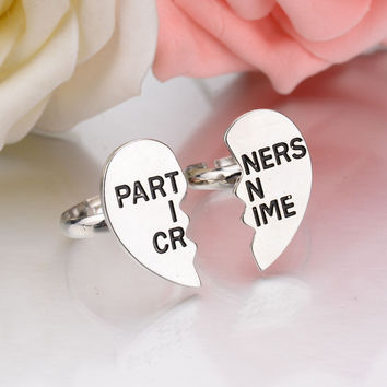Partners in Crime 2 Ring Set