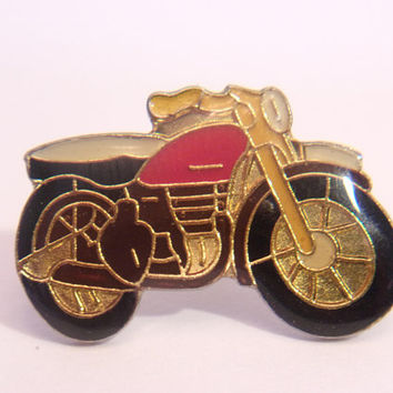 Vintage Motorcycle Lapel Pin Retro Cafe Racer Unisex Jewelry Fashion Accessories
