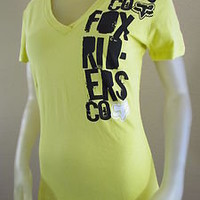 NWT Fox Racing Co. Riders Motocross Graphic Logo T-Shirt Yellow Size: Large